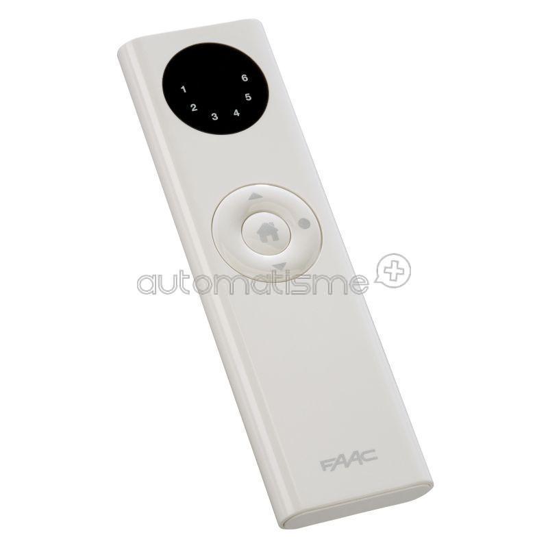 Télécommande FAAC TM XT1S 433Mhz Blanc