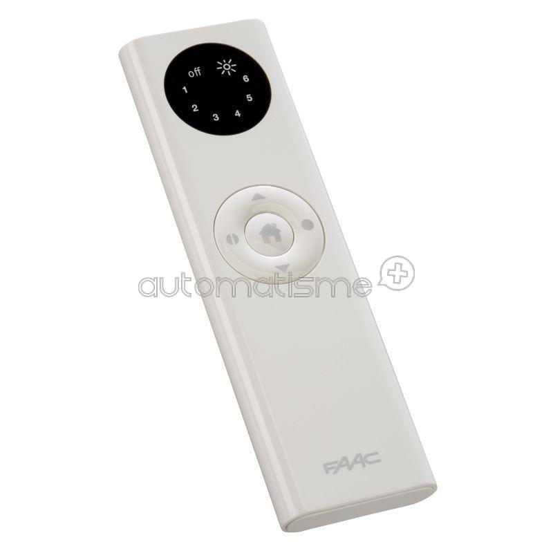 Télécommande FAAC TM XT6S 433Mhz Blanc
