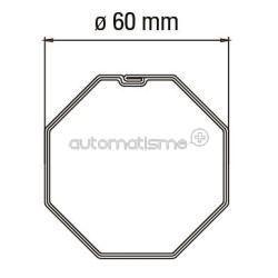 Adaptateur pour tube octogonal de 60